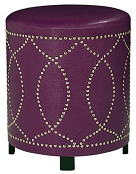 Get Cheap Purple Leather Ottoman