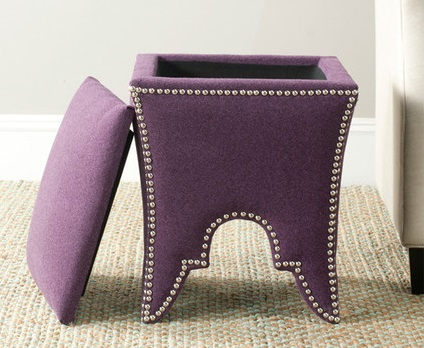 Stylish Purple Seychelles Storage Ottoman