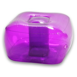 inflatable purple ottoman